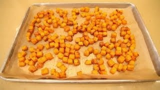 How To Make Butternut Squash Squares In The Oven With Pepper & Salt : Vegetarian Fare