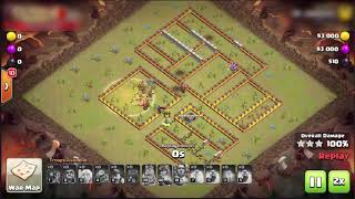 MINER attack war 3 star th12  - Clash of clans strategy
