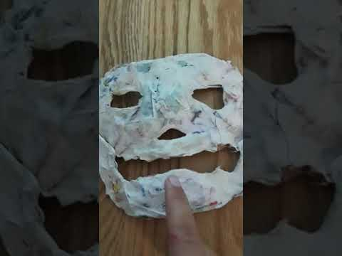 My Michael Myers homemade escape mask paper mache
