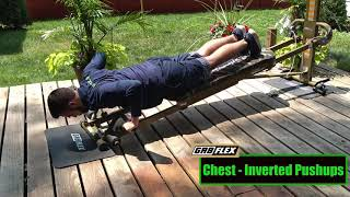 GR8FLEX Chest Exercises - Inverted Push-ups