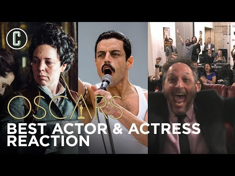 Oscars Live Reaction to Best Actor Rami Malek and Best Actress Olivia Coleman Winning