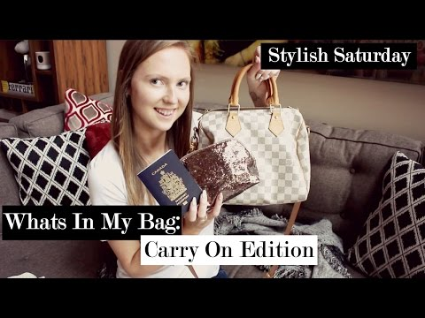 What's In My Bag: Carry-on Edition | Stylish Saturday