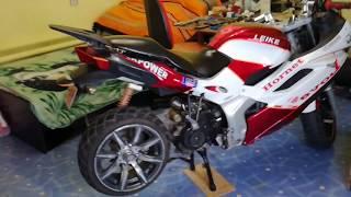 Широкое колесо на скутер Leike Hornet ( Лейка Хорнет )