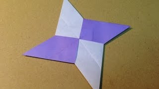 Origami Ninja Star (Shuriken) with One Sheet of Paper