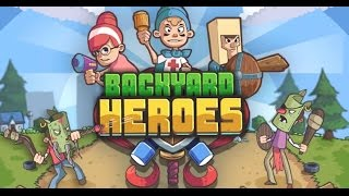 BACKYARD HEROES GAME LEVELS 1-5 | KIDS GAMES