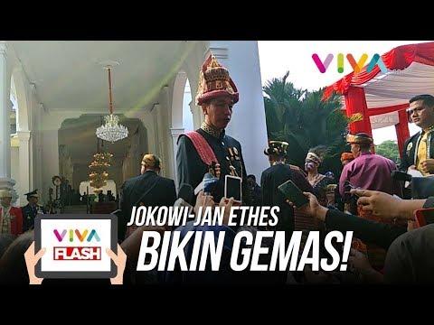 Lucu Banget! Jan Ethes Dan Jokowi Kompak Jelang Upacara HUT RI Ke-73