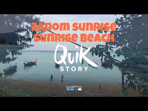 Ko Lipe Zanom sunrise resort - a beach experience footage of the natural sea landscape at Zanom