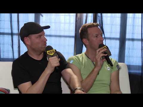 Coldplay Chris Martin & Jonny Buckland interview on Radio 105 - Atlas Project