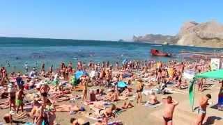 Судак пляж 9 августа 2015..