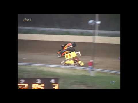 Full race from the SOD Sprints at Hartford Speedway Park in MI on May 2, 2003. Ben Rutan with the feature win. - dirt track racing video image