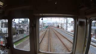 阪急電車の旅 下新庄駅 → 吹田駅 先頭車両 高架化用工事進行中