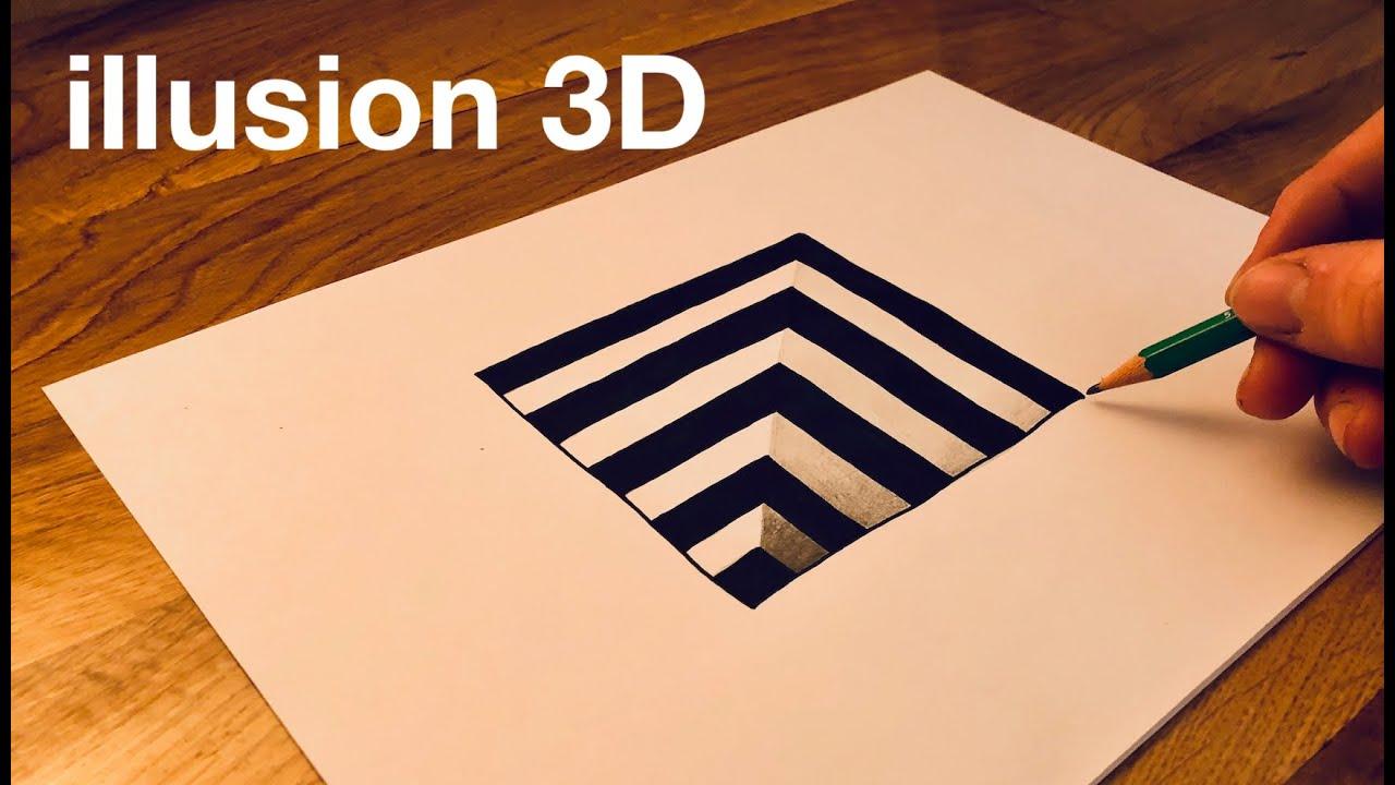 Comment Dessiner Un Trou En 3d Facilement Illusion D Optique Trick Art Youtube