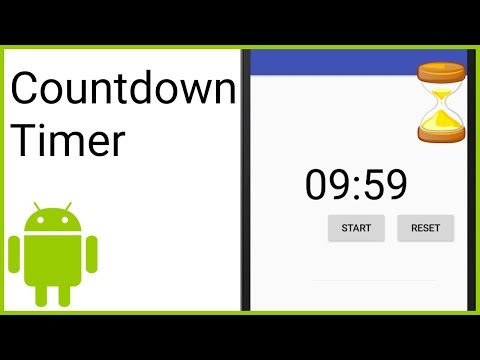 Countdown Timer With Start, Pause And Reset - Android Studio Tutorial