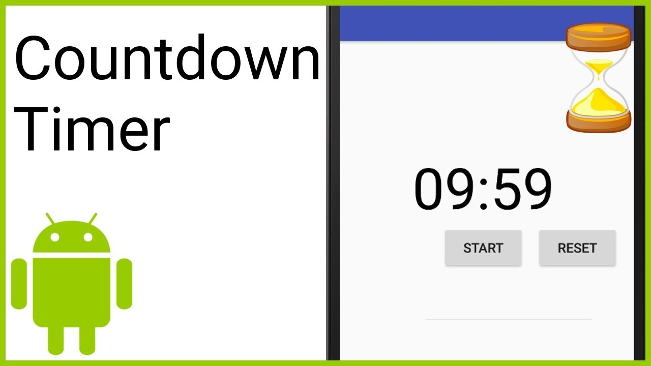 Countdown Timer With Start Pause And Reset Android Studio