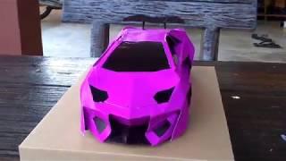 Lamborghini Papercraft Car #simple paper car