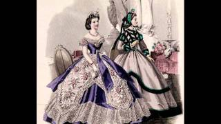 Cage crinoline balldresses from 1850´s and 1860's