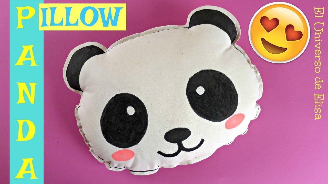Cojín Oso Panda, Panda Pillow, Decoración Oso Panda