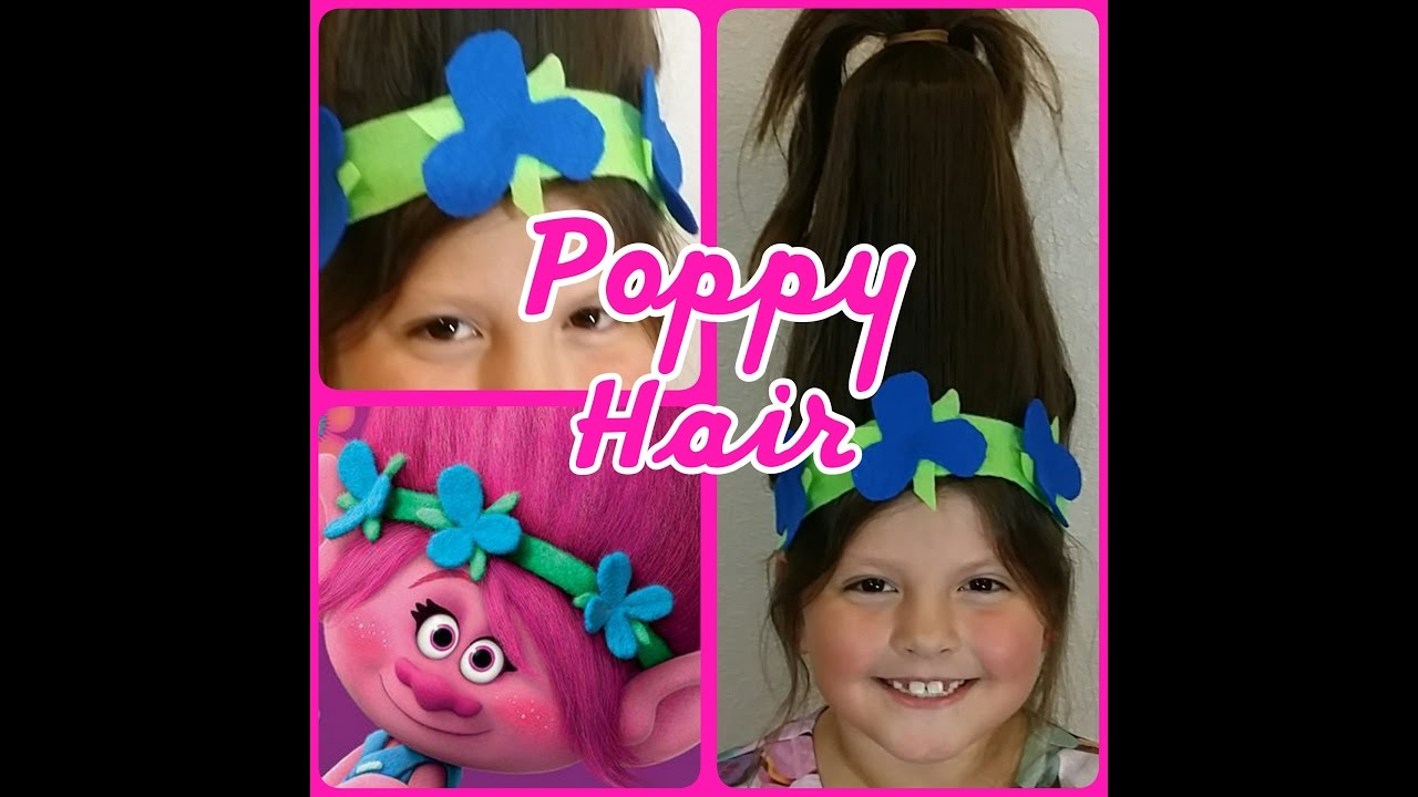 Trolls Poppy Hair And Headband Diy Youtube