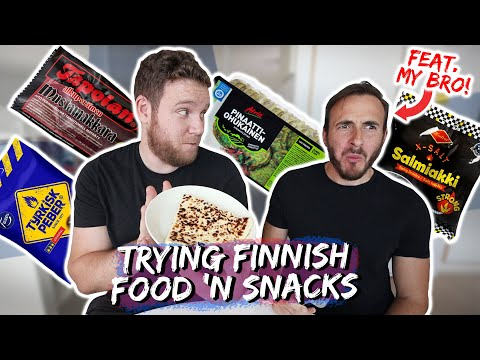 TRYING FINNISH FOOD AND SNACKS Feat. My Brother!