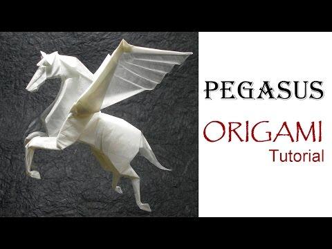 ORIGAMI PEGASUS TUTORIAL (Fumiaki Kawahata) 折り紙 馬 �
