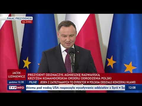 Prezydent Andrzej Duda Wręczył Agnieszce Radwanskiej Krzyż Komandorski Orderu Odrodzenia Polski
