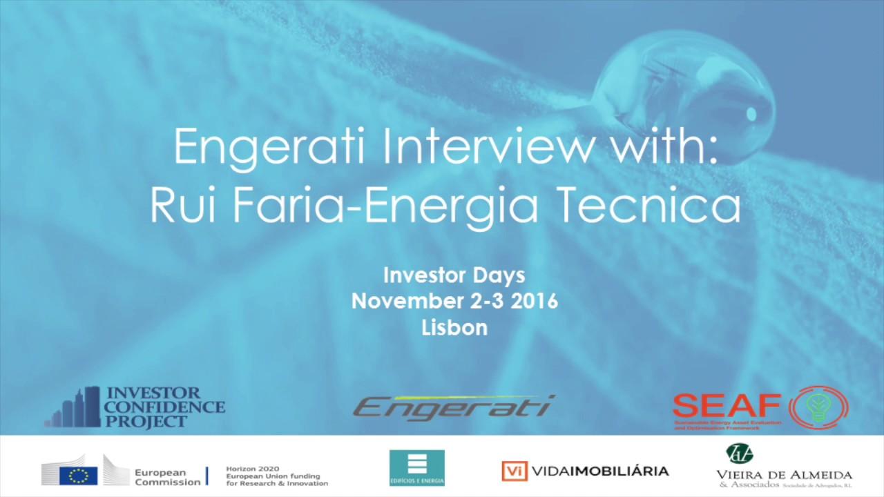 Rui Faria, Engergia Tecnica