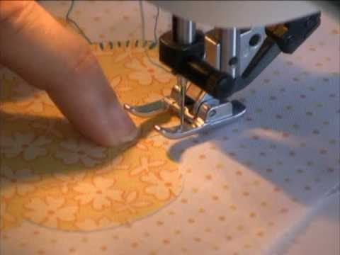 Machine Blanket Stitch Applique YouTube Fascinating How To Quilt A Blanket With Sewing Machine