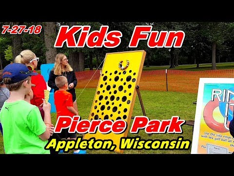 Kids Fun at Pierce Park, Appleton, WI (7-27-18)