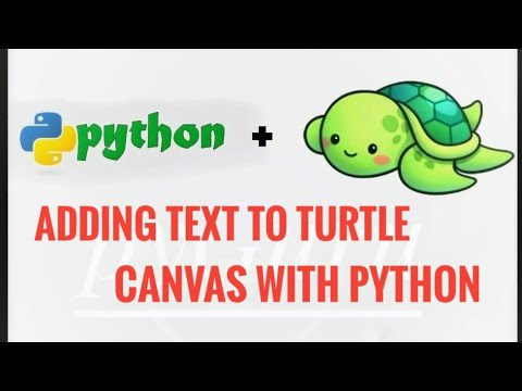 Adding Text in Turtle Canvas