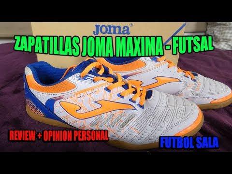 Review Zapatillas Joma Maxima Futsal - (Futbol Sala) - Ryutron - YouTube 72ba1112c51a3