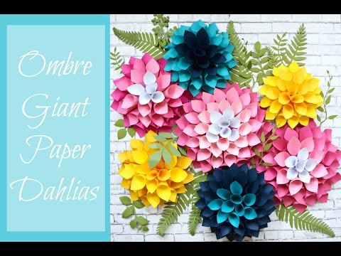 Giant Paper Dahlia Flowers- DIY Flower Wall