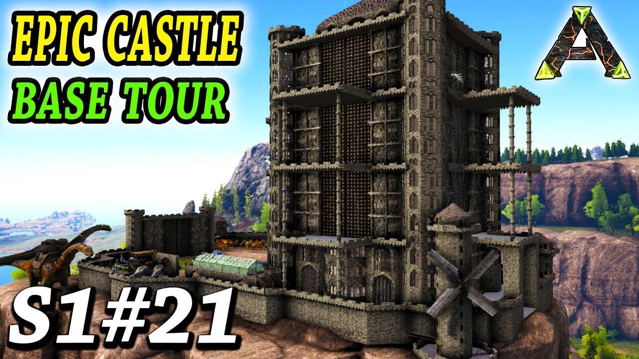 ARK EPIC CASTLE BASE TOUR!! Ark Survival Evolved Ragnarok Gameplay Ep21