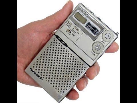 Vintage Mister Thin Deluxe Rf Fm Clock  U0026 Alarm Panasonic Transistor Radio  Collectornet
