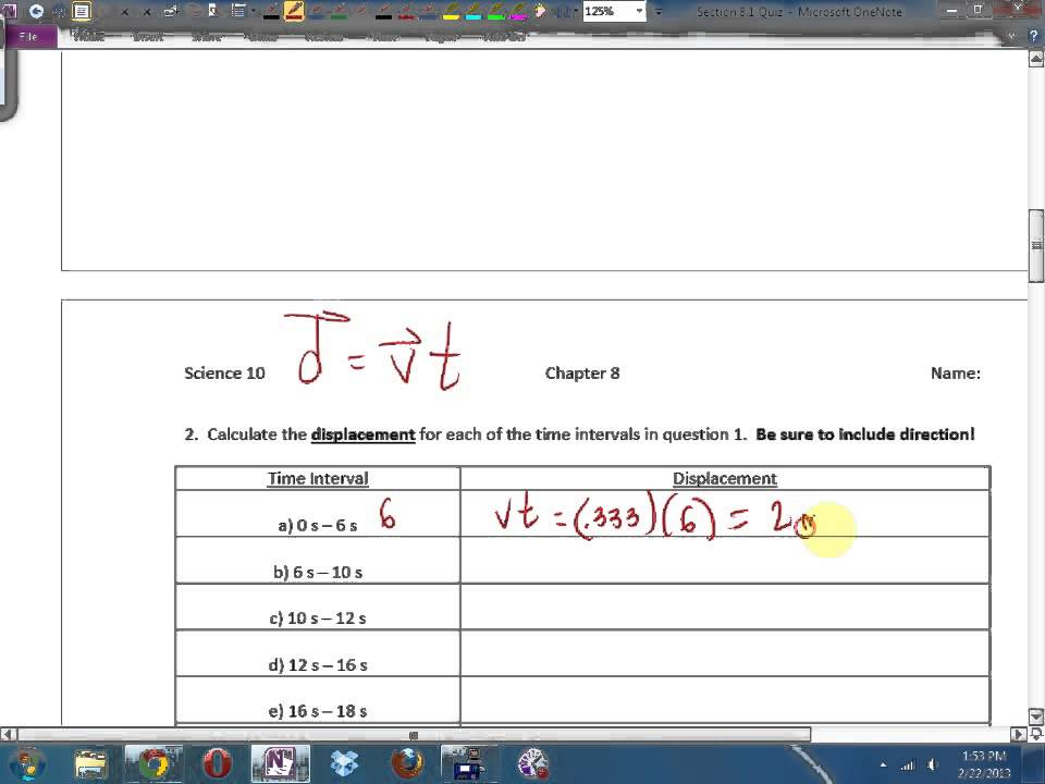 Science 10 Answers To Chapter 8 Quiz