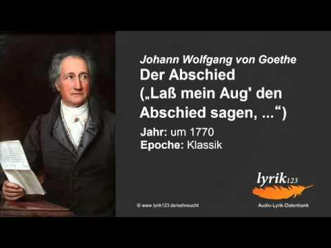 Иоганн Гете «Прощание» (на немецком языке)