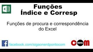 Excel - Função Índice, Corresp e Fórmulatexto thumbnail