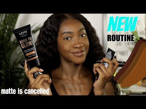 Is The New NYX Born To Glow My Go To Foundation Now? 21 Cocoa  Foundation Hunt thumbnail