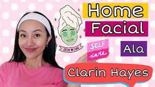 HOME FACIAL  Wajah GLOWING ala CLARIN HAYES ! Feat. Foreo UFO