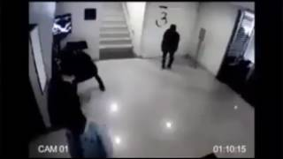Bank robbery stopped by a single security guard | A real life hero