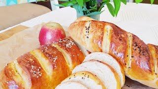Домашний Батон в Духовке Рецепт Домашнего Хлеба Простой рецепт теста