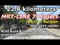 Metro Rail Transit - Line 7 update as of June 2019..22.8 kms, from Quezon City - Bulacan..