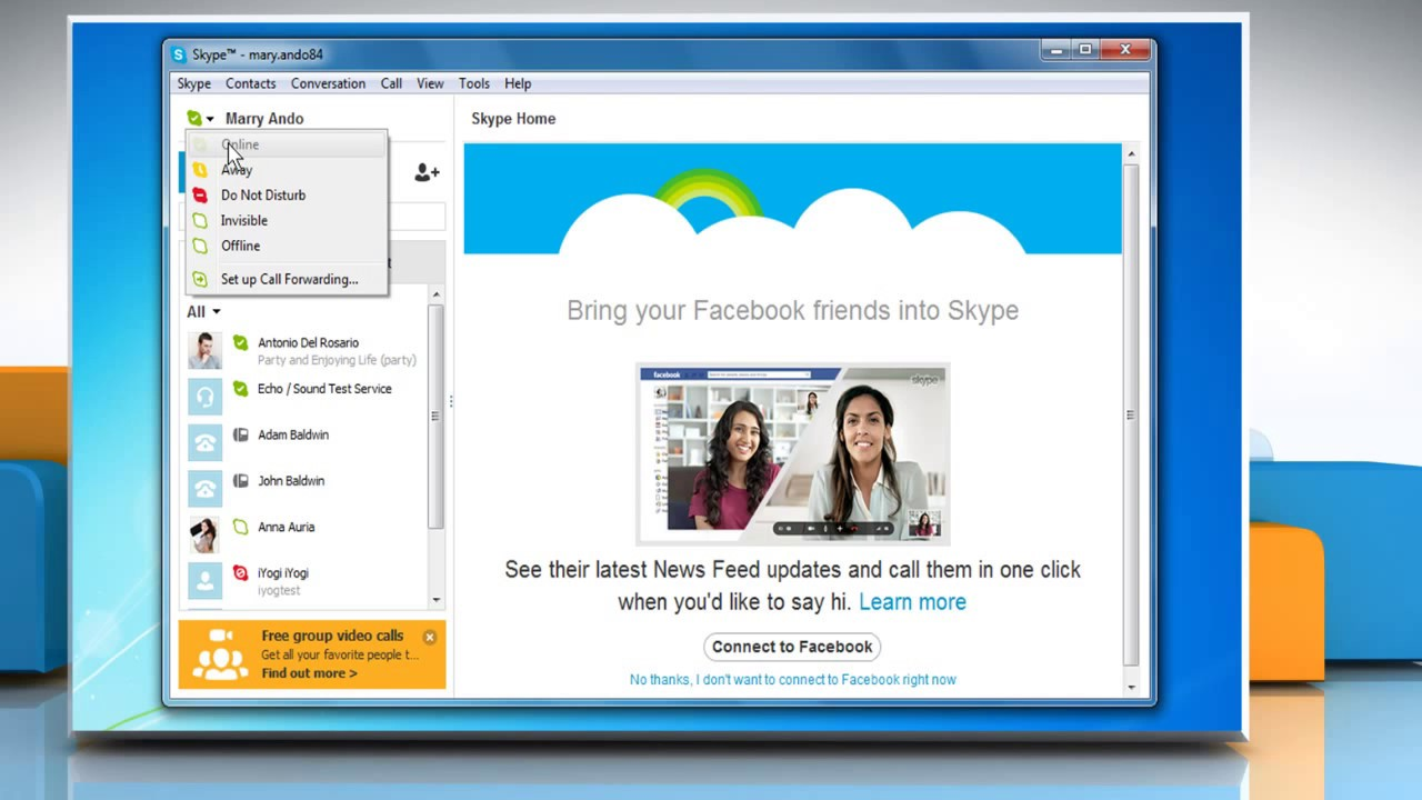 The problem can not add a contact on Skype