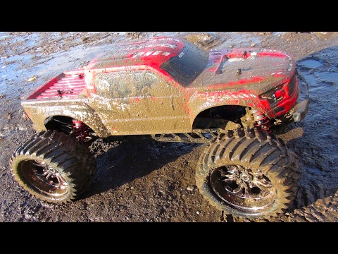 RC ADVENTURES - SLiNGiN' MUDDY WATERS & FLYiNG HiGH - REEPER MONSTER TRUCK - 1/7th Scale, CEN RACiNG