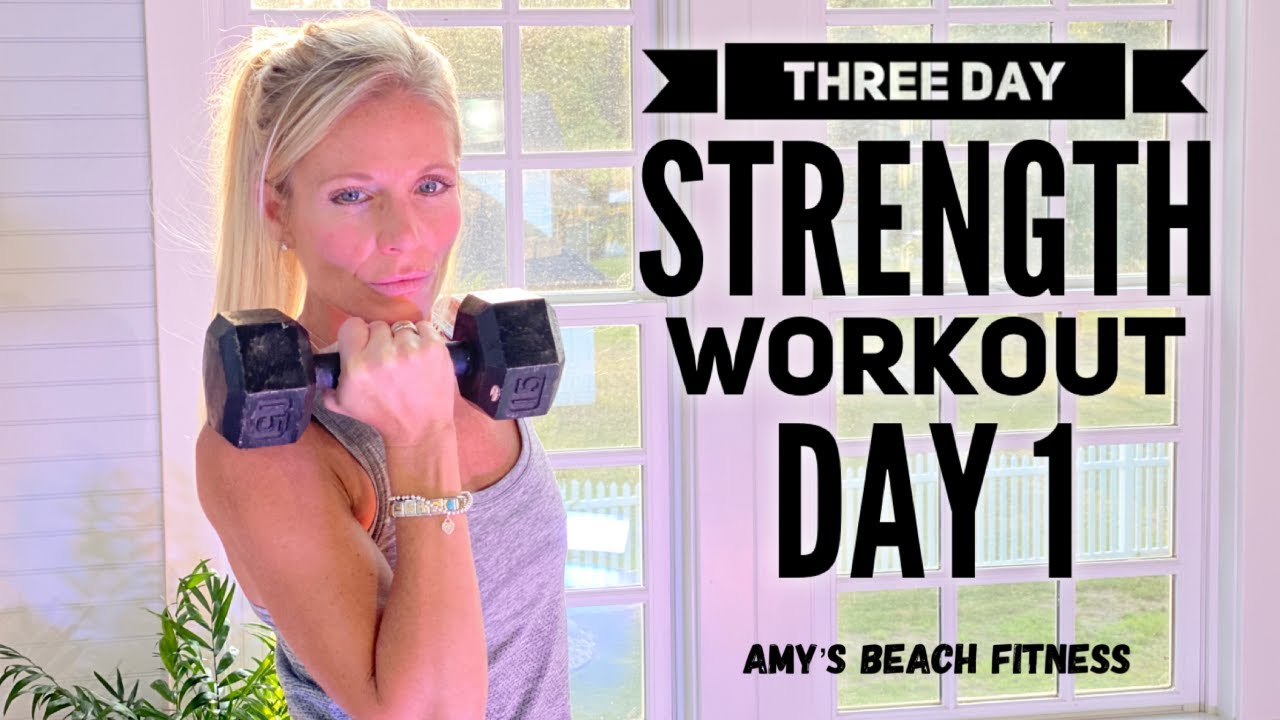 Three Day Strength Training Workout - Day 1 - Triceps, Chest, Core