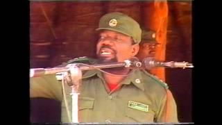 PRESIDENTE ,Dr.JONAS MALHEIRO SAVIMBI. NO COMÍCIO NA JAMBA.
