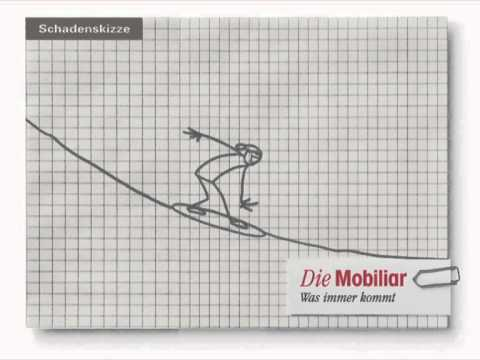 Animierte Schadenskizze Der Mobiliar Snowboarder Youtube