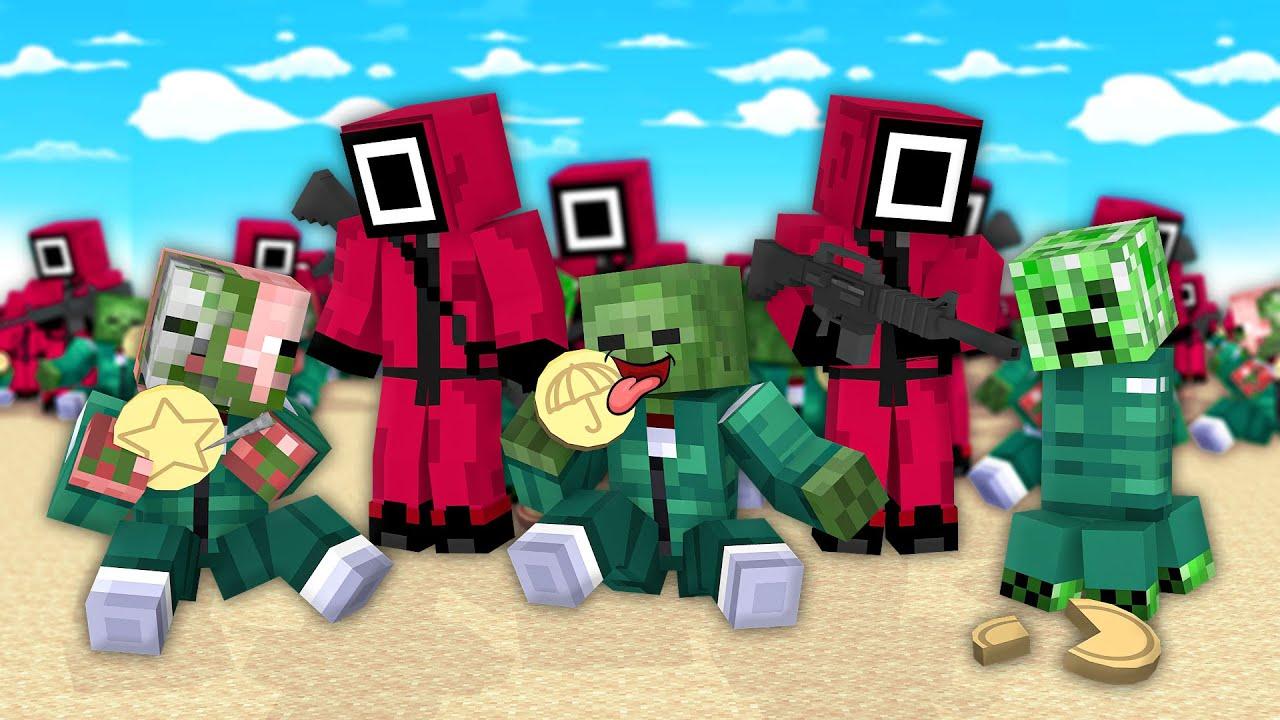 Monster School: Squid Game Dalgonda Candy Challenge - Minecraft Animation
