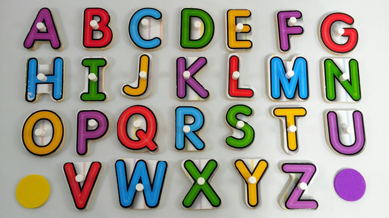 Aprender as letras do alfabeto como ensinar as letras do - Letras para puertas infantiles ...