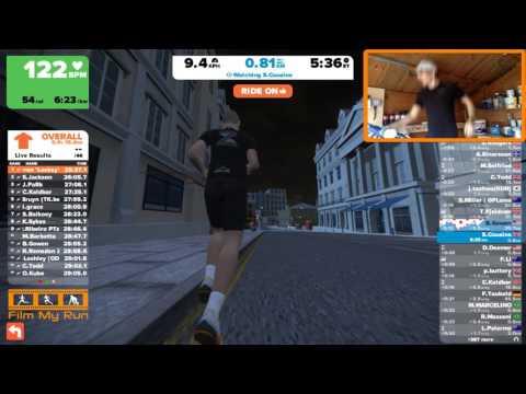Running the First Marathon on Zwift