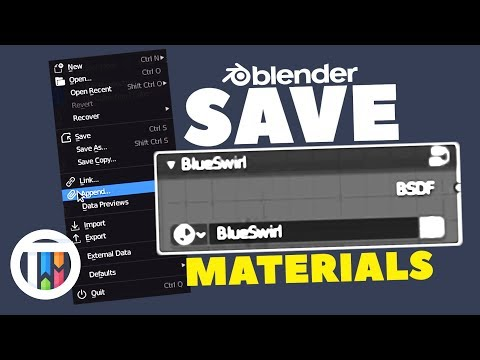 Blender 2.8 Eevee Tutorial - How To Save And Import Materials - Node Tree Group